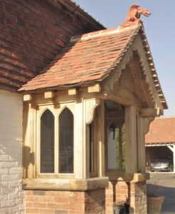 green oak frame porch produced in Kent