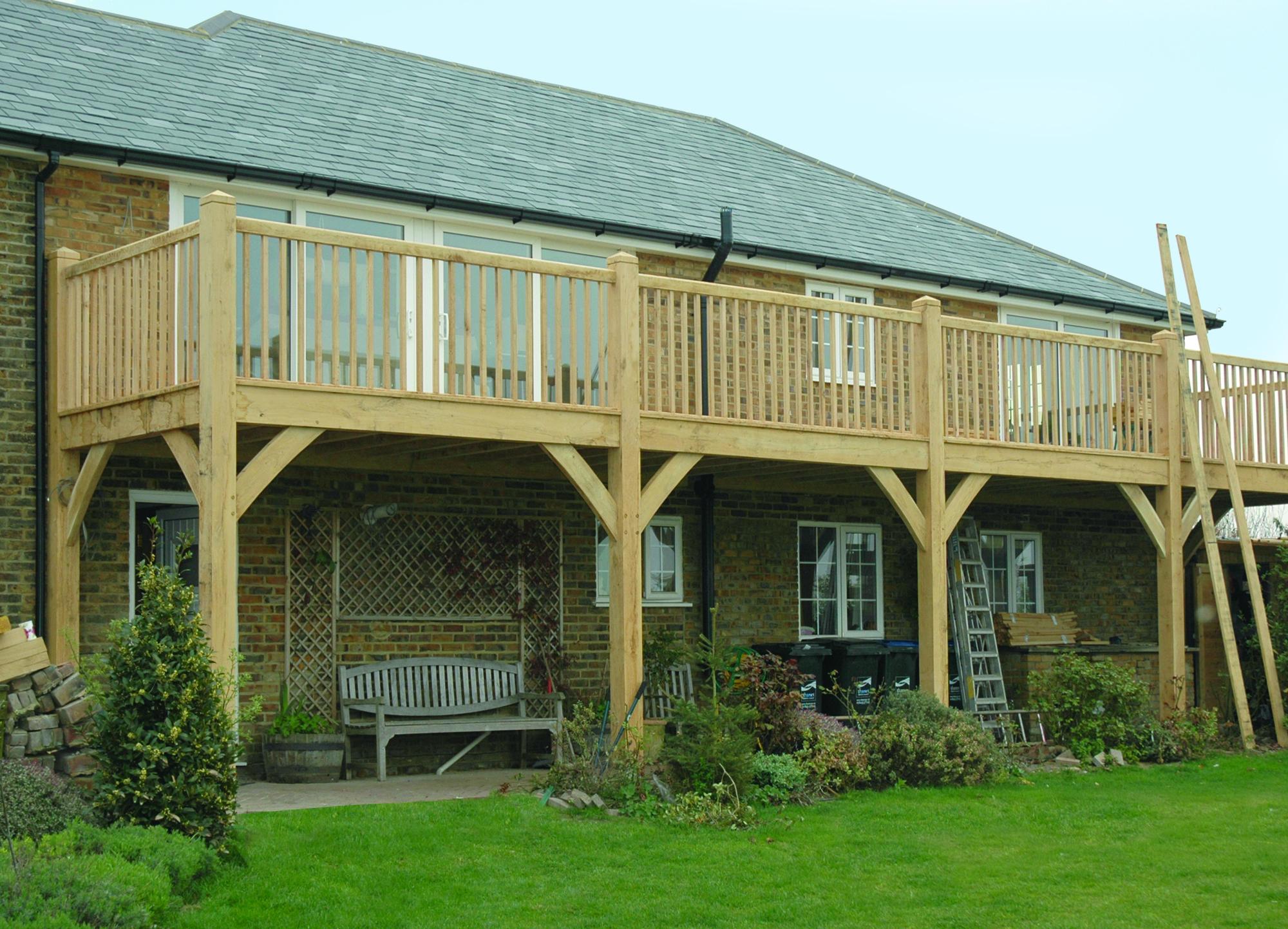 Green Oak balcony