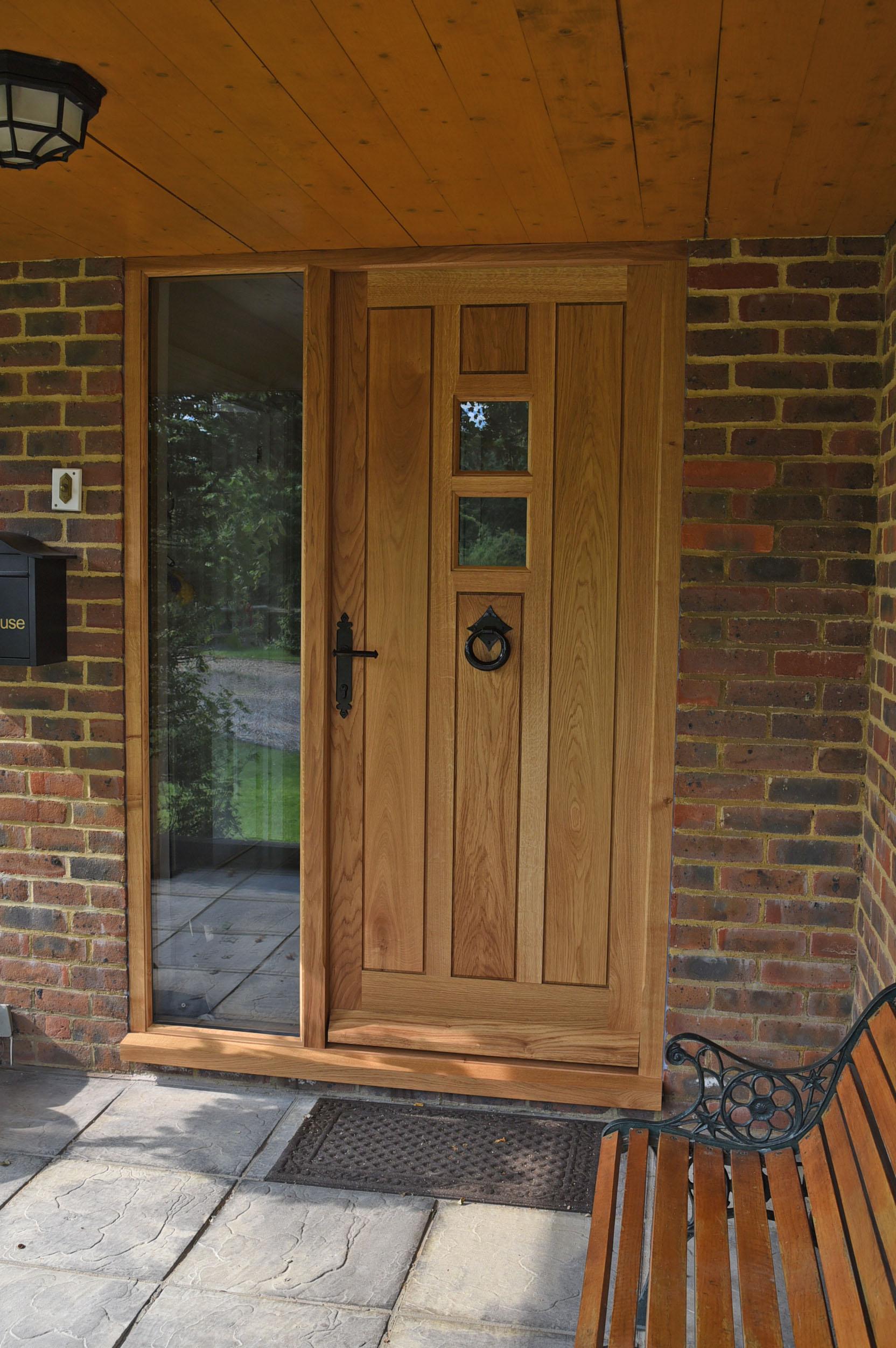 Oak joinery , Oak front door