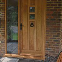 Modern solid oak door