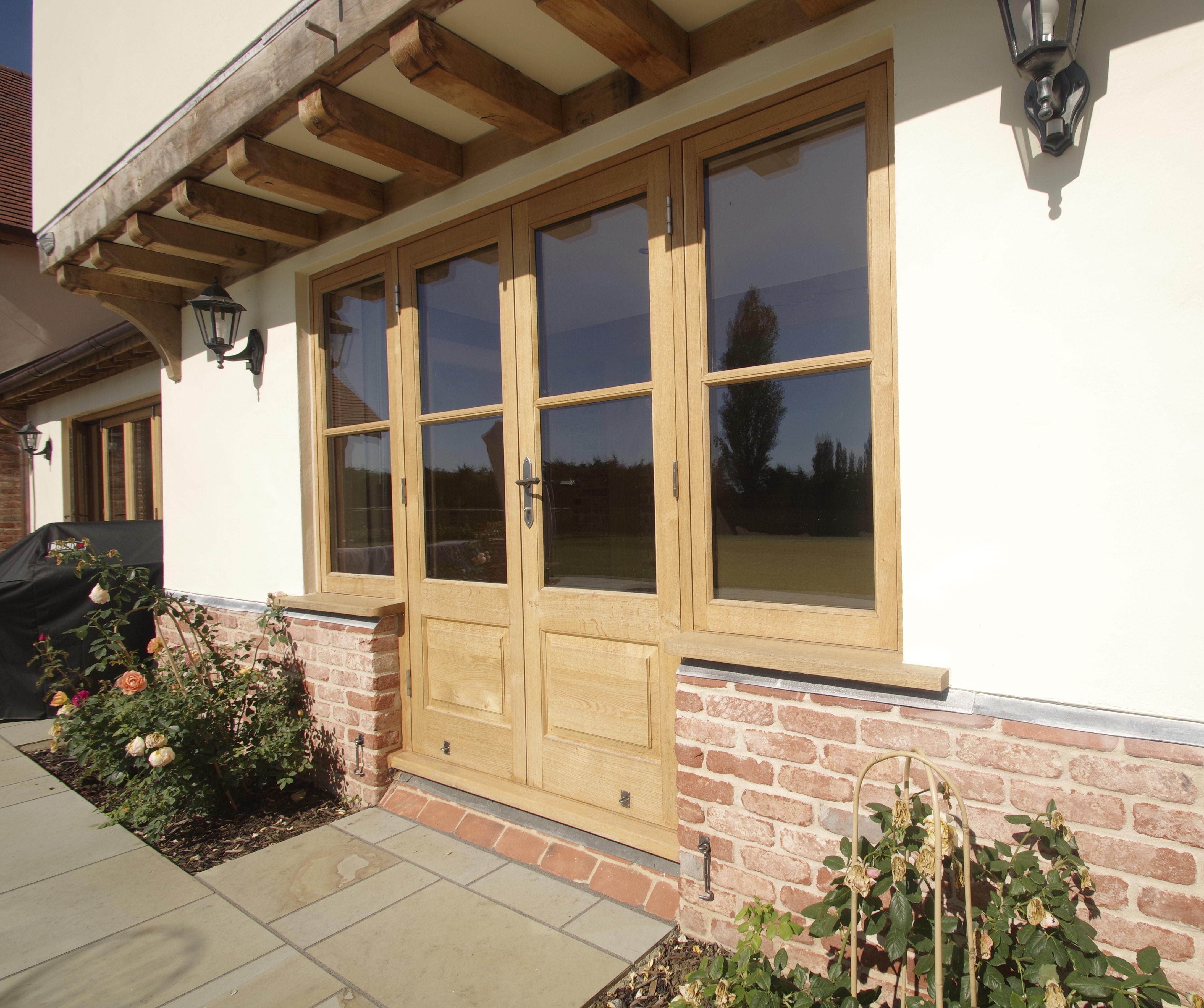 Solid oak french doors oak wrights house